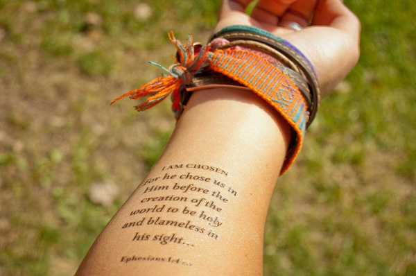 10 spiritual tattoos on forearm for Bible verse tattoos on arm