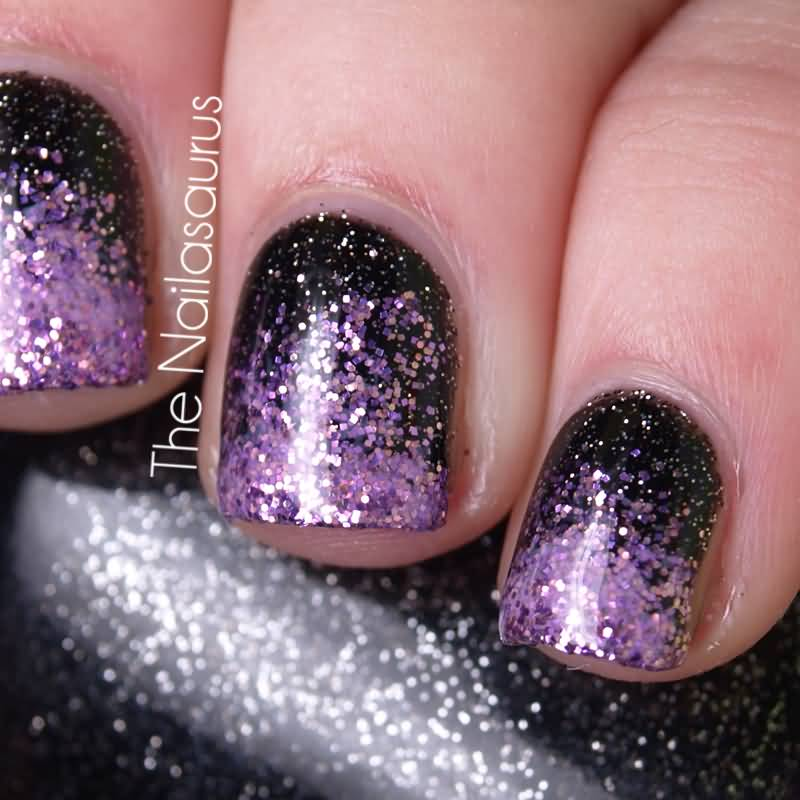 Pink and purple glitter nail art best image nail 2017 60 cool purple glitter nail art design ideas for trendy s prinsesfo Image collections