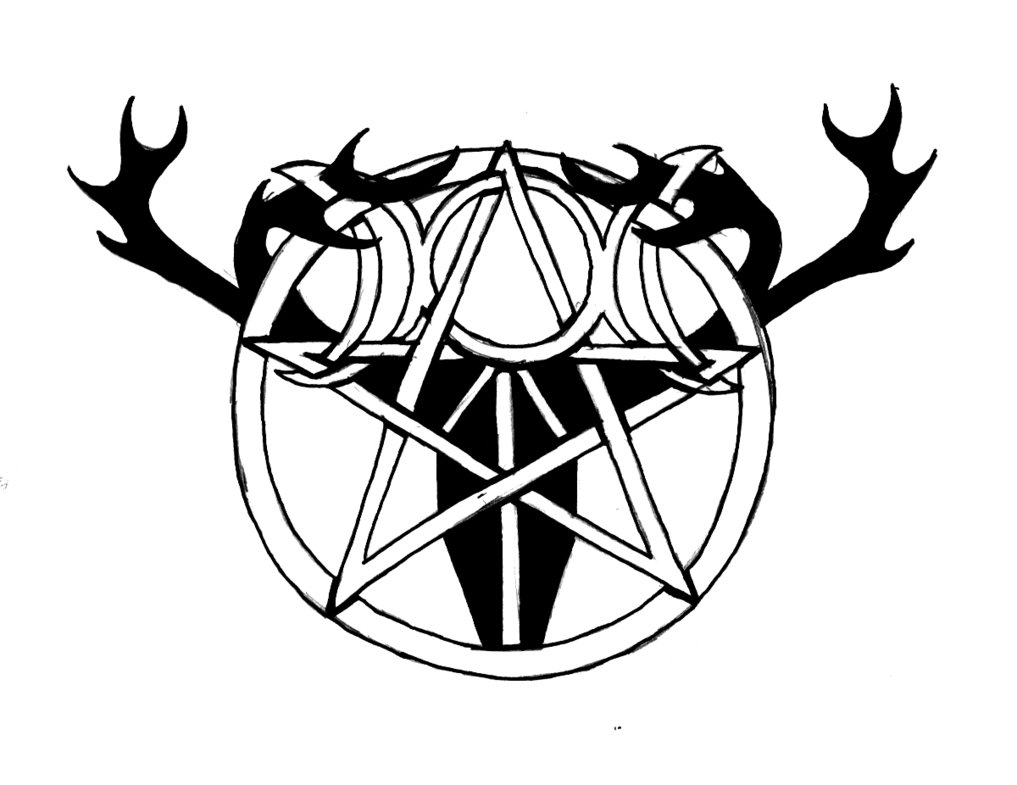 Black and white pagan tattoo design by pagan symbol buycottarizona