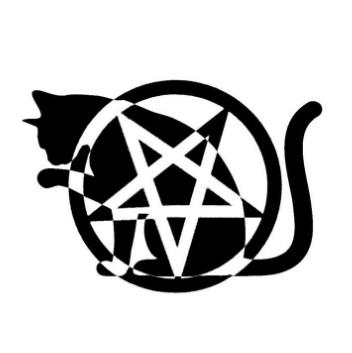 Amazing Stencil Of Nice Satan Symbol Tattoo | Golfian