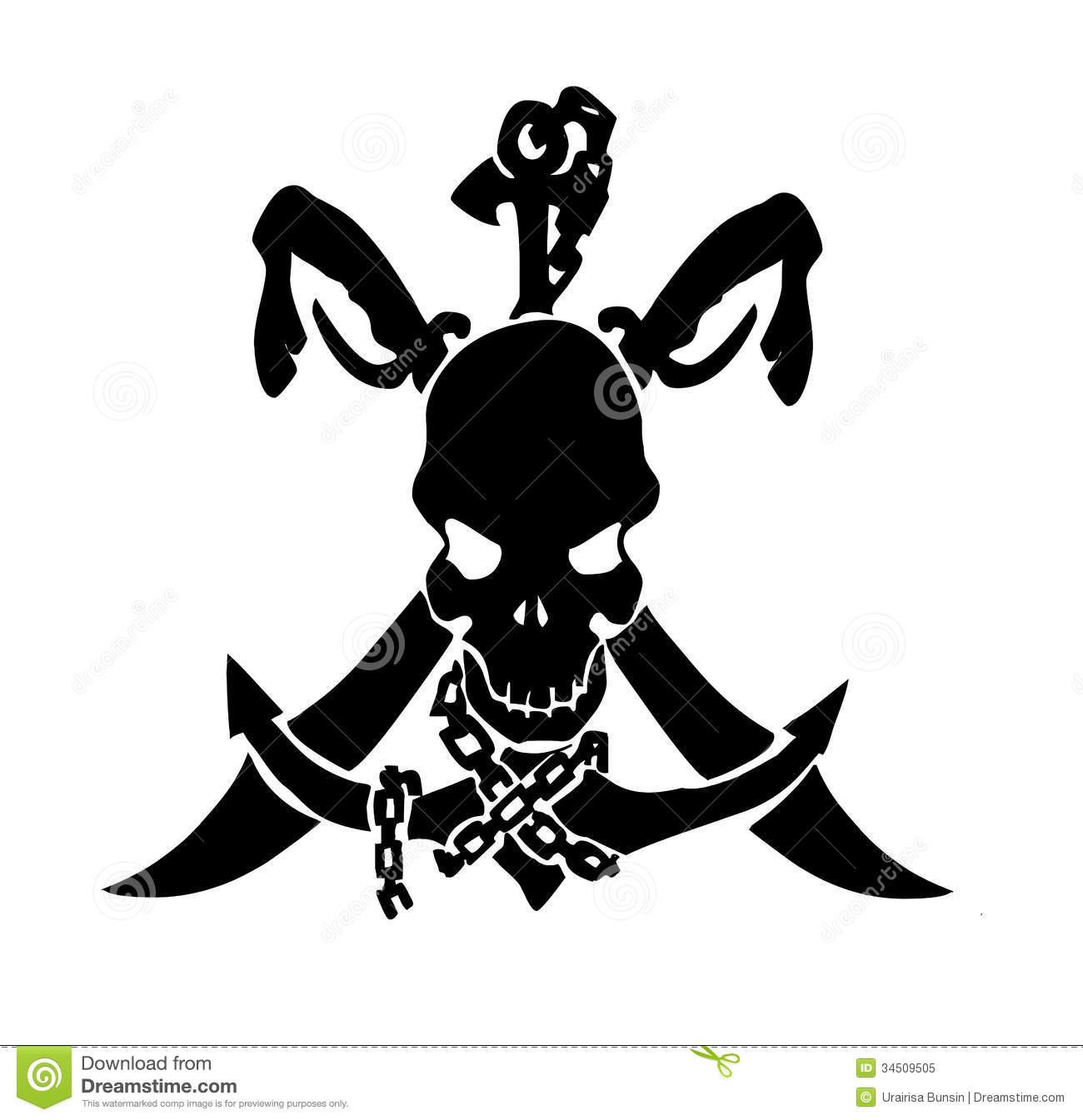 23 pirate skull tattoo designs. Black Bedroom Furniture Sets. Home Design Ideas