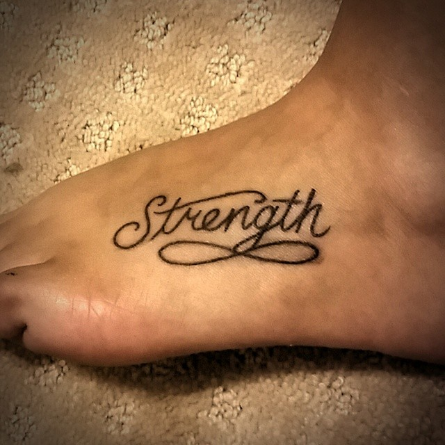 Best Strength Quotes For Tattoos: Nice Strength Heart Tattoo For Women