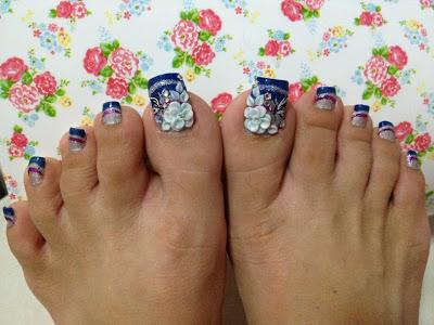 Foot Nail Stripe Stylish