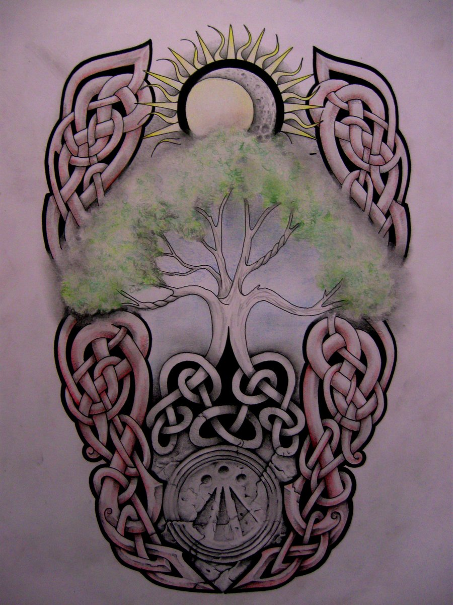 Brilliant Celtic Tree Of Life Tattoo Design By Tattoo Design