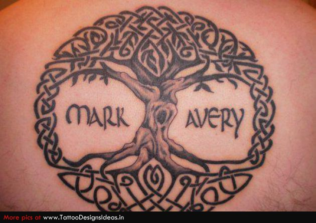 Celtic Circle Tree Of Life Tattoo
