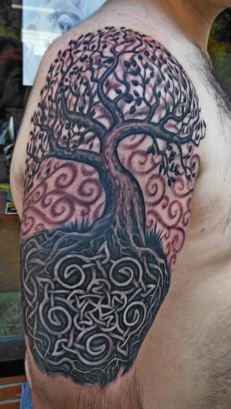 32 tree of life tattoos on sleeve. Black Bedroom Furniture Sets. Home Design Ideas