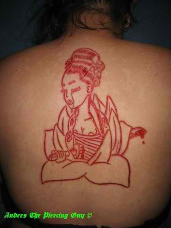 15 scarification tattoos on upper back. Black Bedroom Furniture Sets. Home Design Ideas