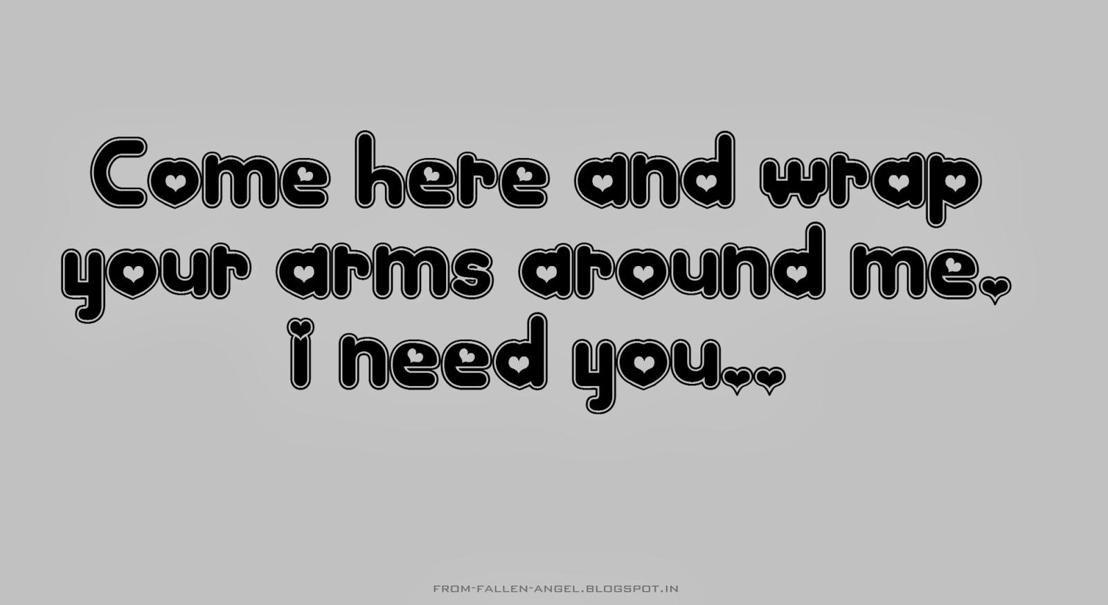 long distance i need you