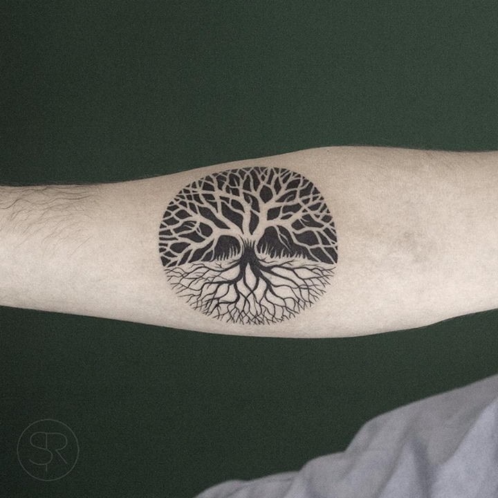 32 tree of life tattoos on sleeve for Tree of life watercolor tattoo