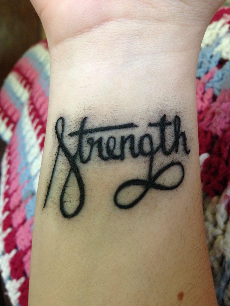 22 nice wrists strength tattoos for Infinity tattoos on wrist