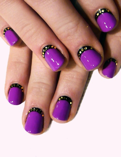 35 Dark Purple Nail Art Design Ideas