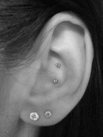 31 double conch piercing pictures. Black Bedroom Furniture Sets. Home Design Ideas