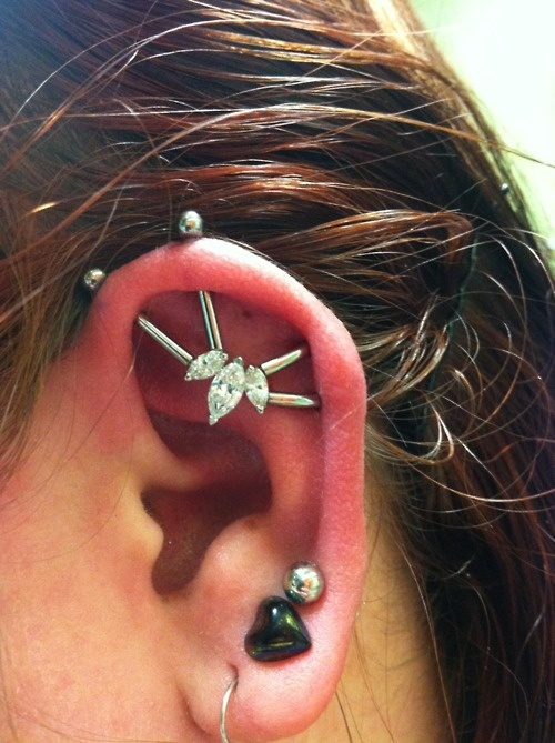 how to make a fake industrial piercing