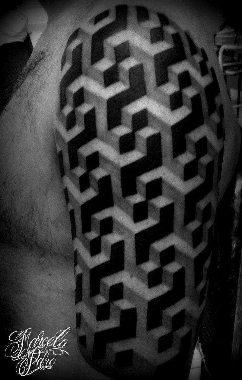 20 escher tattoos on half sleeve