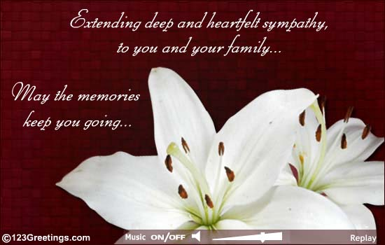 60 heartfelt sympathy pictures and images extending deep and heartfelt sympathy to you and your family may the memories keep you m4hsunfo