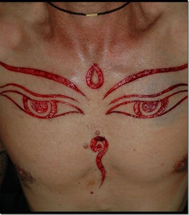 Scarification Tattoo On Arm By Chris Saint Unique