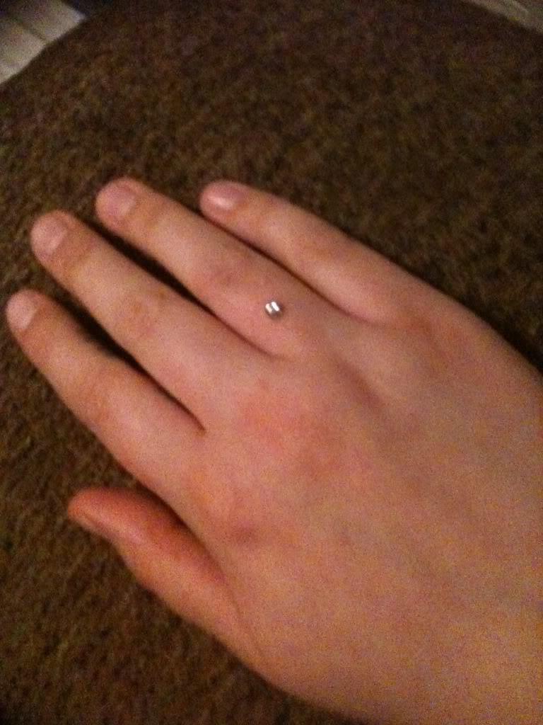 Finger Ring Piercing On Right Hand For Girls