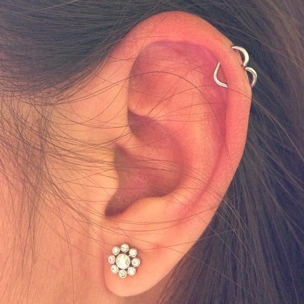 1a185ea29 Flower Stud Lobe And Ear Heart Helix Piercing