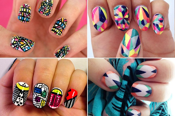 50 latest geometric nail art designs four most stylish geometric nail art designs prinsesfo Choice Image