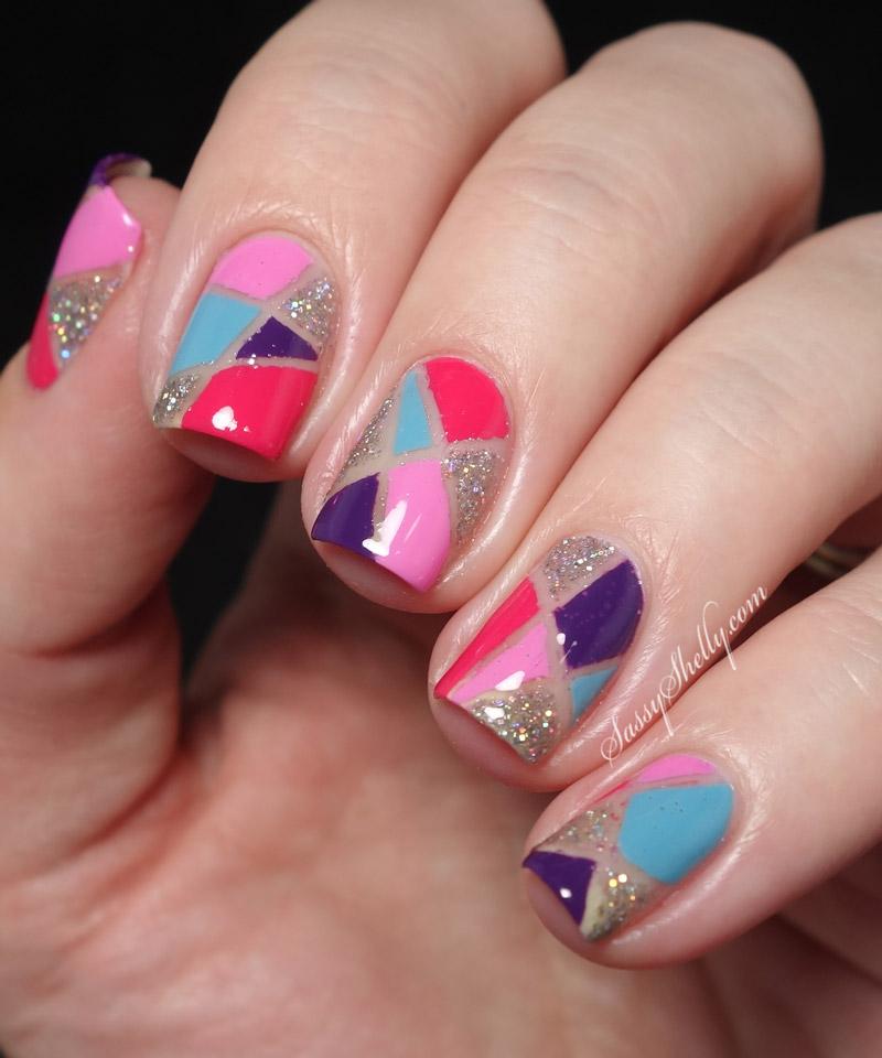 50 Latest Geometric Nail Art Designs