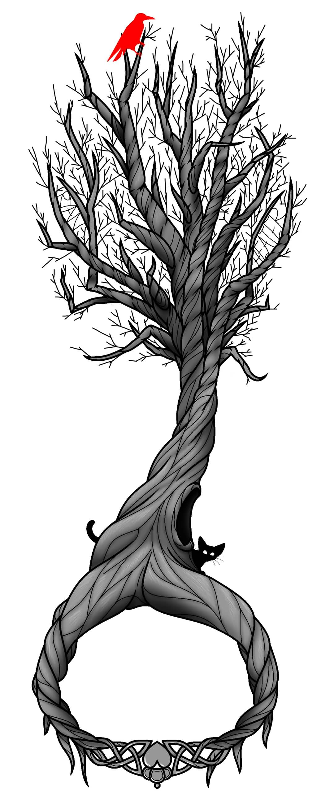 celtic tree of life tattoo on right shoulder by tattoo design. Black Bedroom Furniture Sets. Home Design Ideas