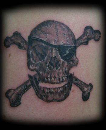 7 pirate skull and crossbones