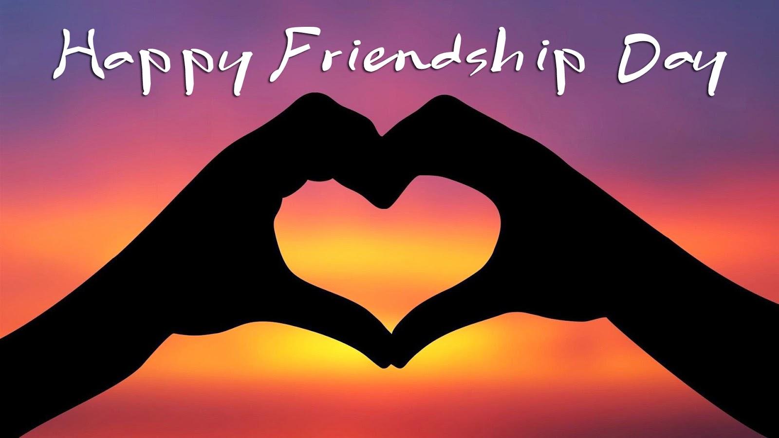 Happy Friendship Day Heart Of Hands Wallpaper