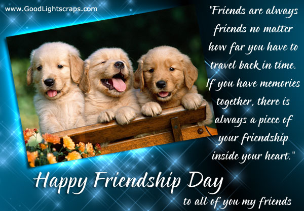 Happy friendship day to all of you my friends greeting card m4hsunfo