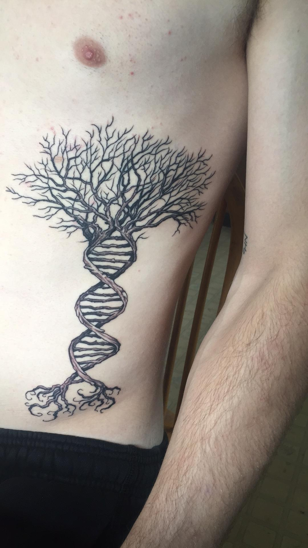 Impressive DNA Tree Of Life Tattoo By John Dickinson
