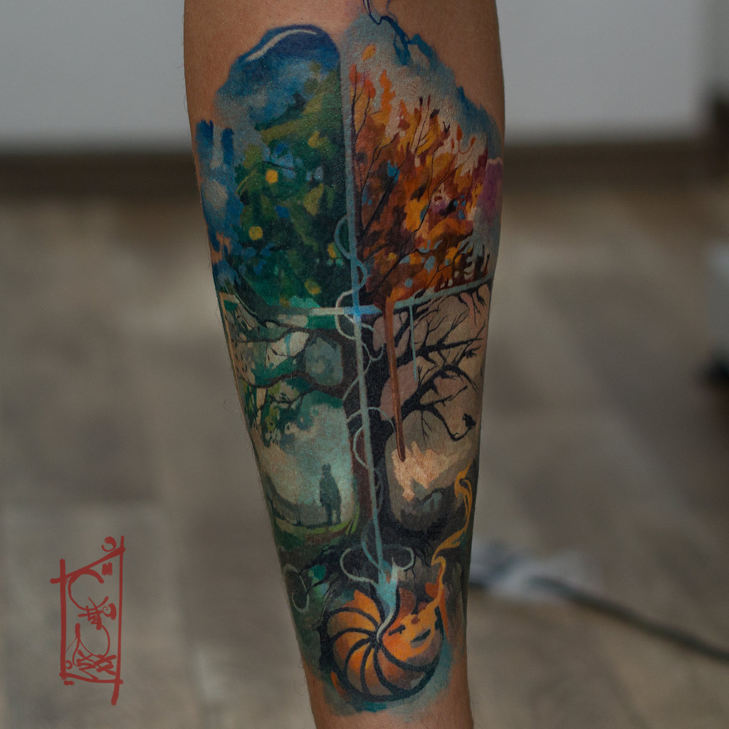 525b1c54fb670 Tree Of Life Tattoo Half Sleeve