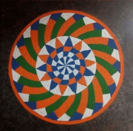 Flag Design Ideas we thought it would be a fun idea to find design ideas from our listings on coldwellbankercom that represent the colors from the olympic rings flag Incredible Tri Color Rangoli Design Idea For Independence Day Of India
