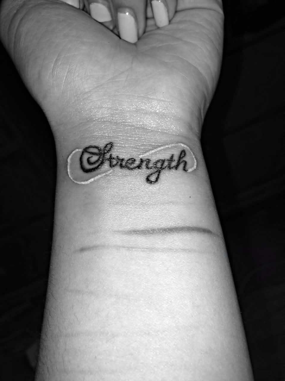 22 nice wrists strength tattoos for Female wrist tattoos ideas