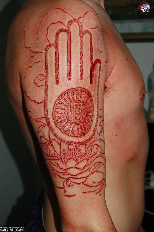 11 scarification tattoos on sleeve. Black Bedroom Furniture Sets. Home Design Ideas
