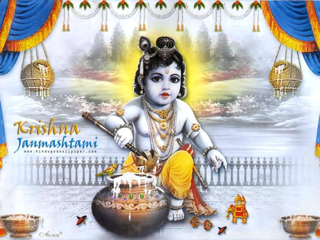 55 Latest Krishna Janmashtami Greeting Pictures