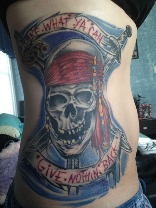 41+ Pirate Skull Tattoos And Ideas