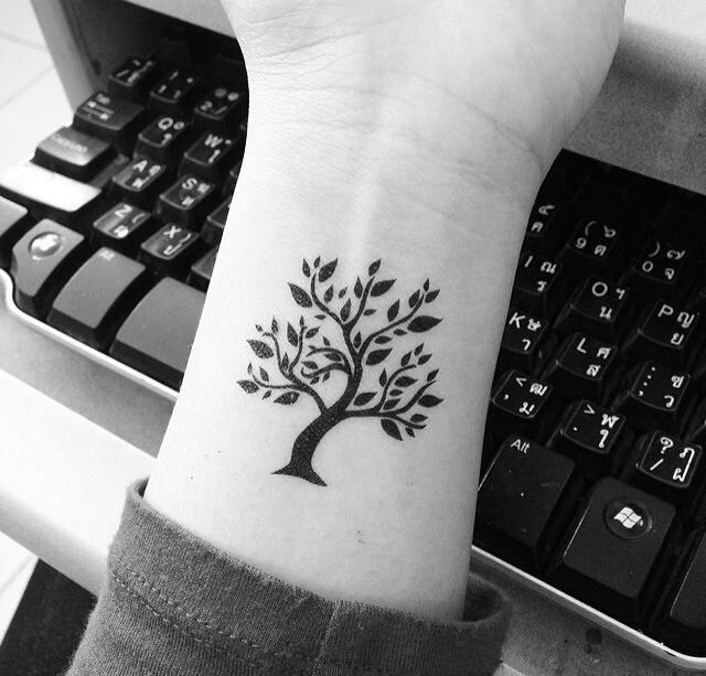 Lovely And Small Tree Of Life Tattoo On Wrist
