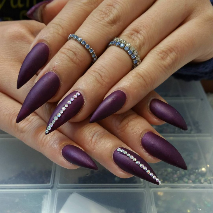 Awesome Green Nail Art Designs as well 50 Most Beautiful Blue Nail Art Design Ideas in addition Purple Nail Designs moreover Every Girl Needs These 30 Nail Hacks For The Perfect Manicure besides Purple Nails Bow. on dark purple gel nails designs