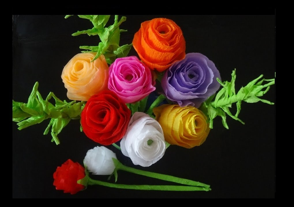 How to make multi colored paper flowers best flowers and for How to make multi colored flowers
