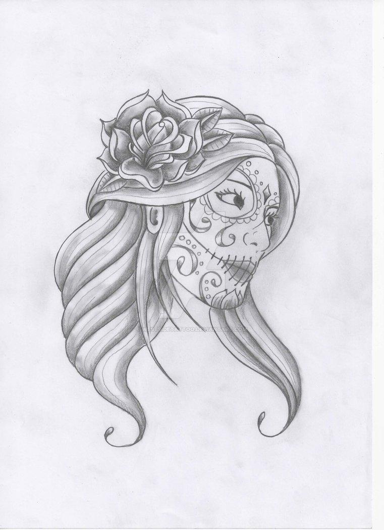 27 catrina sketch tattoos ideas