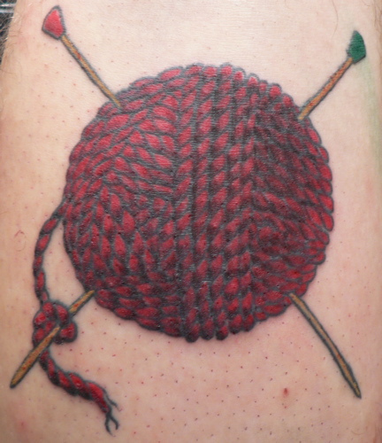 Knitting Needle Tattoo : Yarn tattoos designs