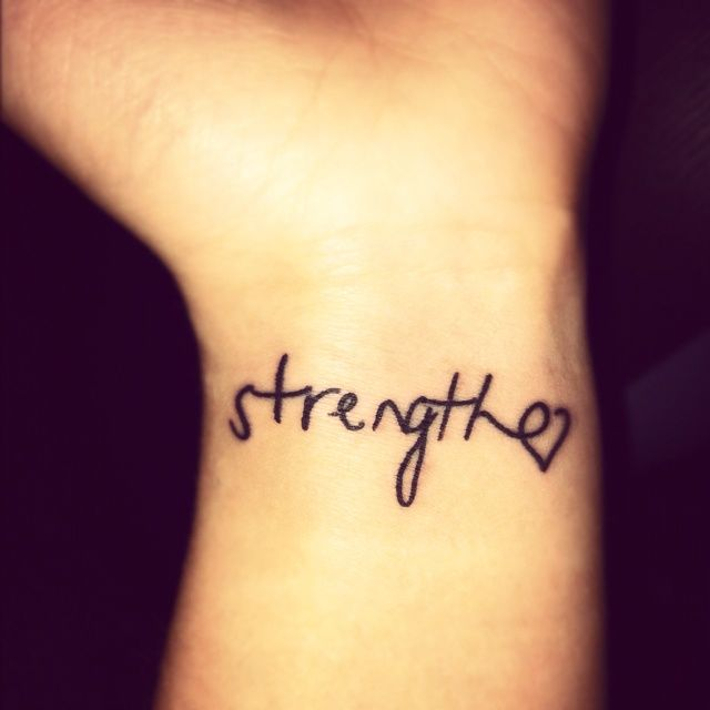 Best Strength Quotes For Tattoos: 15+ Strength Tattoos On Wrists