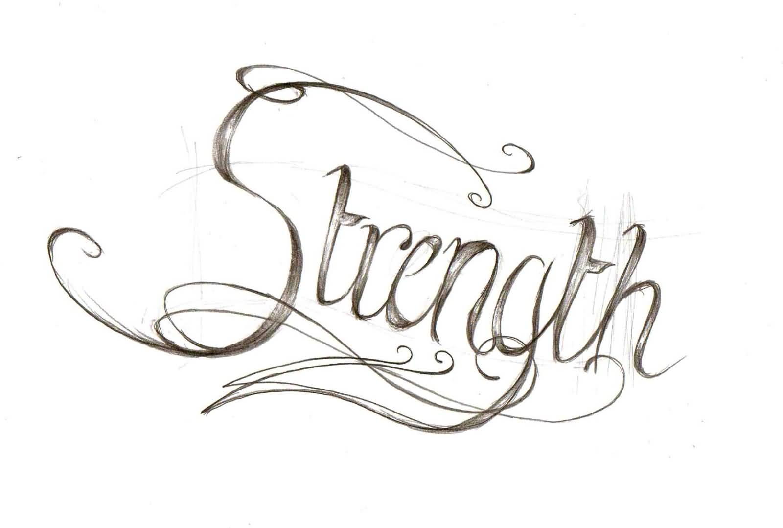 35 strength tattoos ideas nice strength word tattoo sketch biocorpaavc