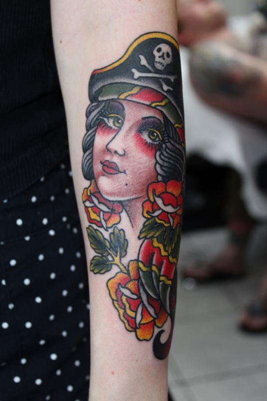 40+ Incredible Pirate Girl Tattoos - photo#15