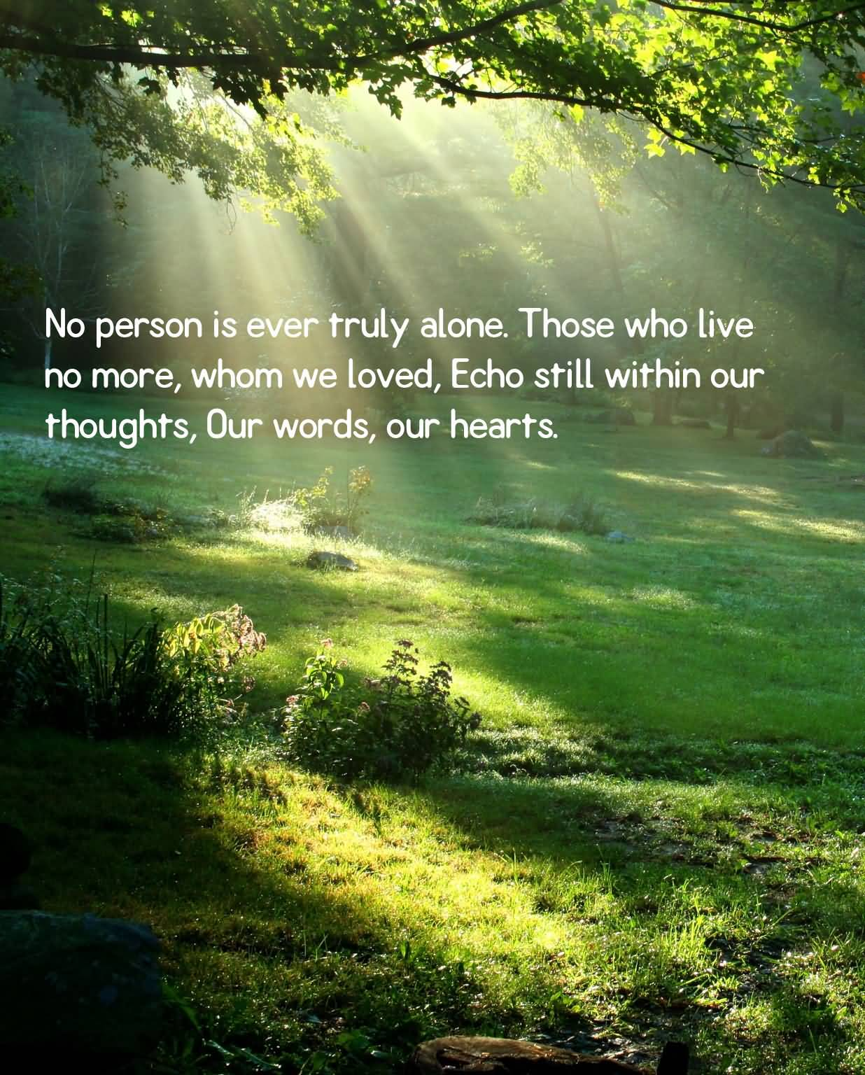 40 images and pictures of sympathy messages no person is ever truly alone those who live no more whom we lived kristyandbryce Choice Image