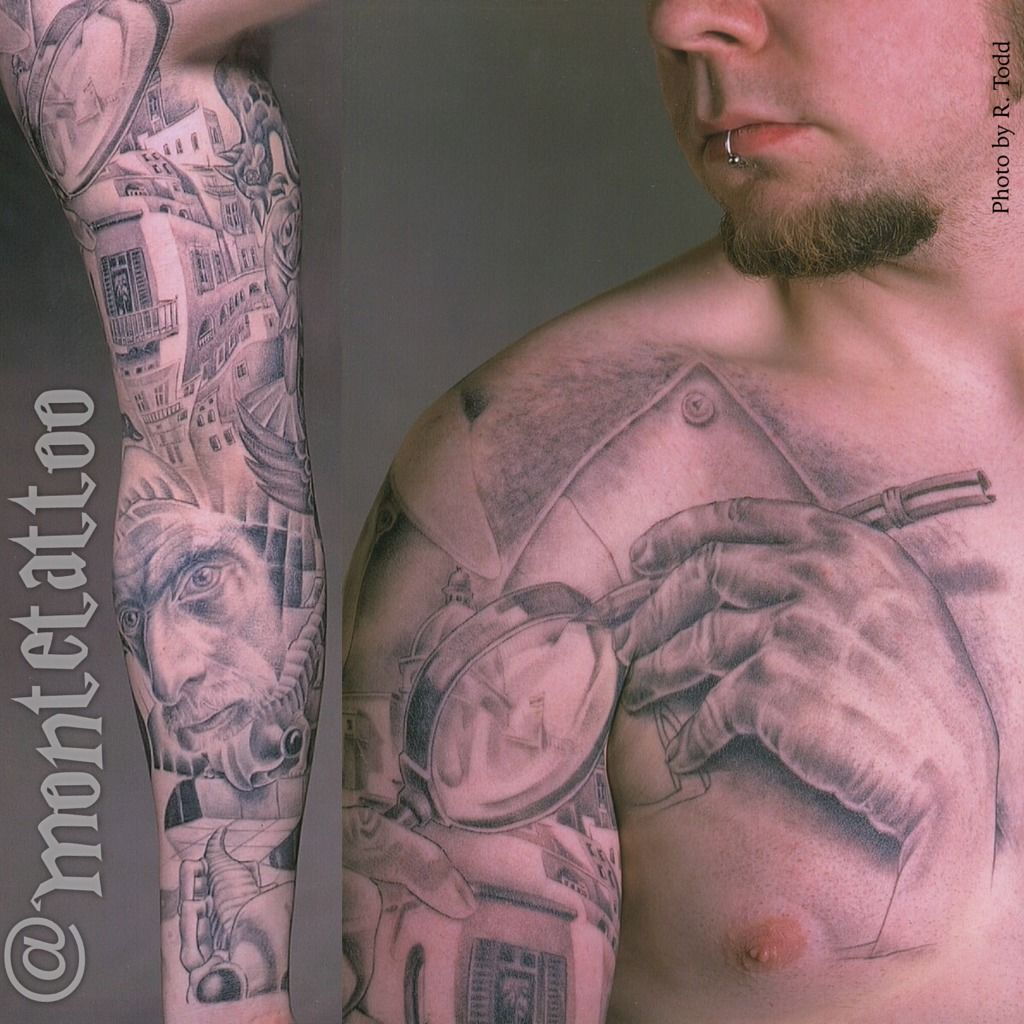 60 escher tattoo collection for Chest and sleeve tattoo