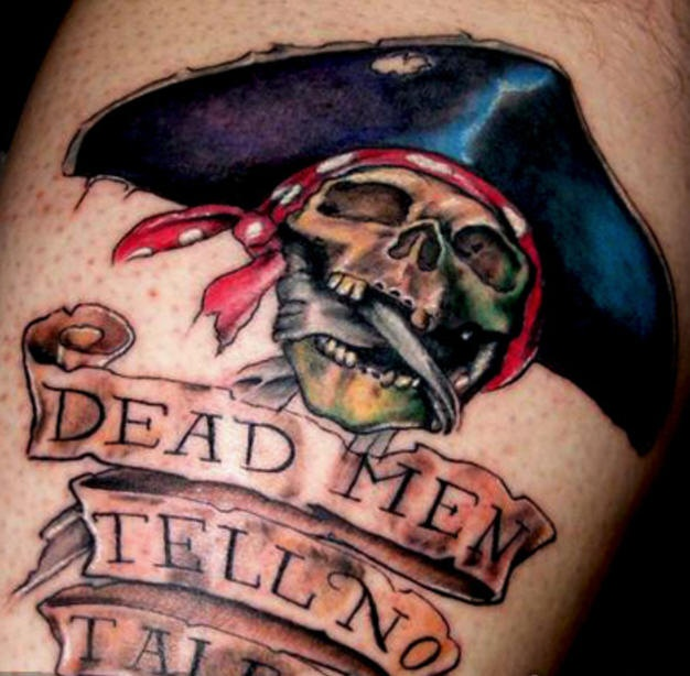 41 pirate skull tattoos and ideas. Black Bedroom Furniture Sets. Home Design Ideas