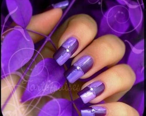 Purple Acrylic Nail Art Design - 55 Best Purple Nail Art Designs