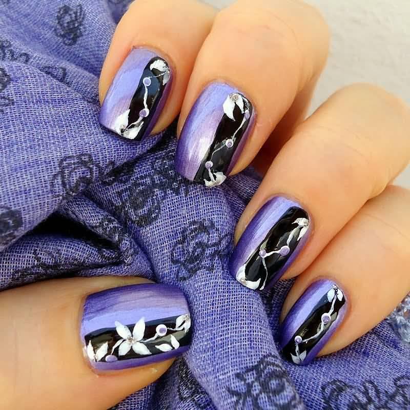 55 Most Stylish Purple Nail Art Designs