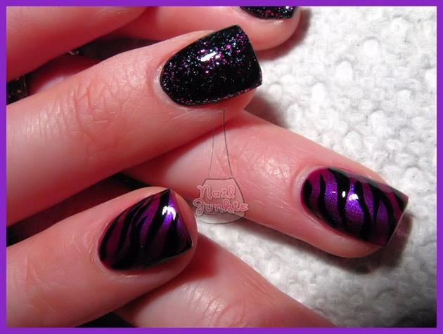 Purple and black nail design gallery nail art and nail design ideas nail art purple and black image collections nail art and nail 55 most stylish purple nail prinsesfo Gallery