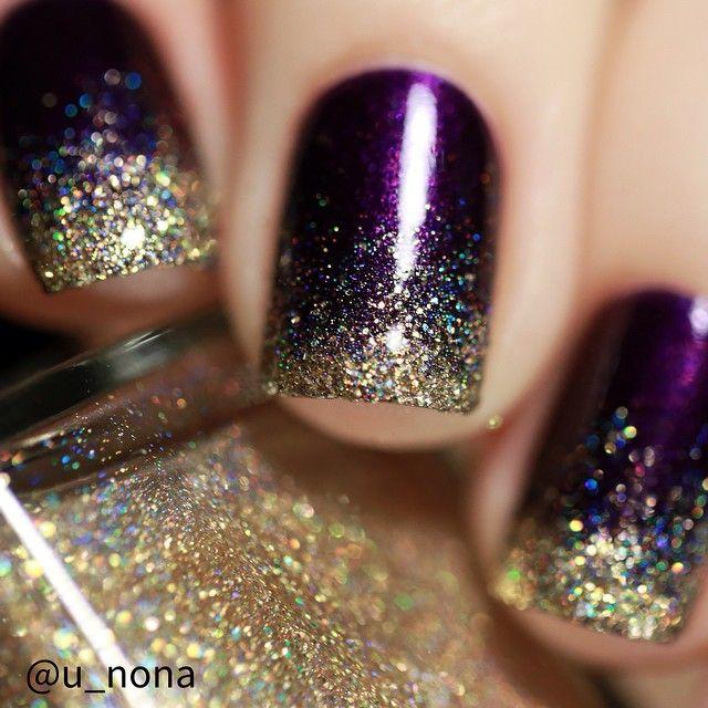 60 cool purple glitter nail art design ideas for trendy girls purple and gold  glitter nail - Purple And Gold Nail Art Images - Nail Art And Nail Design Ideas